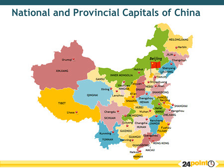 Map Of China Provinces And Major Cities Cieloyleche