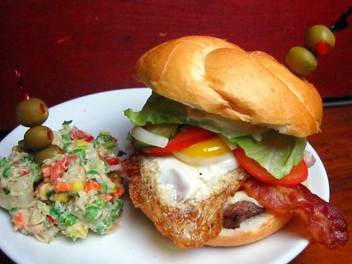 Uruguay's National Sandwich - El Chivito (w/ ensalada rusa… | Flickr ...