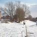 A snowy canal