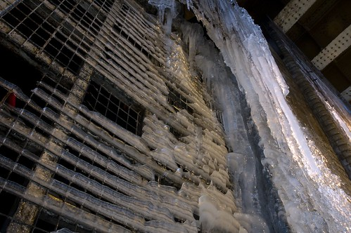 Wall of Icicles under a bridge in Manchester 2 | by gifster1983