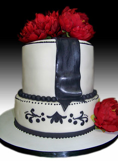 Elegant Red, Black and White (Card) | by Gio's Cakes
