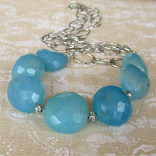 blue chalcedony necklace | by planettreasures