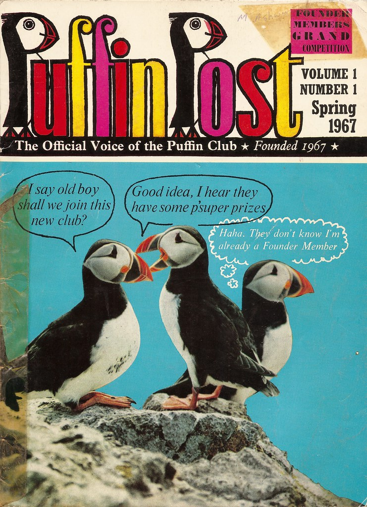 Penguin Book Cover Up : Puffin post magazine issued by penguin books cover of v