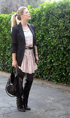 pink dress black blazer 2 | by ...love Maegan