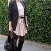 pink dress black blazer 2