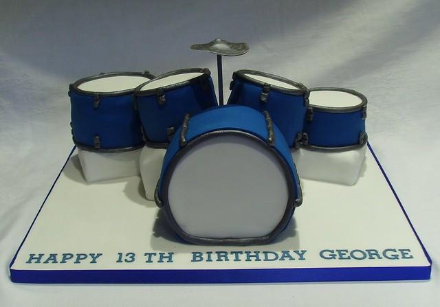 Drum Set Birthday Cake Flickr Photo Sharing