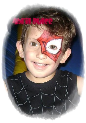 Maquillaje antifaz hombre araña