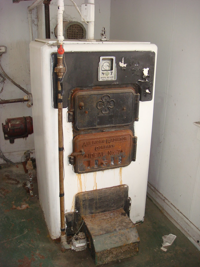 Small Quot Ideal Boiler Quot Model No 7 Old Residential Boiler