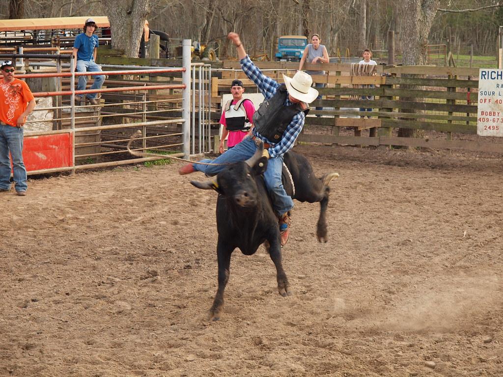 Dayton Texas Lv Rodeo Productions Bull Riding Practice Mar