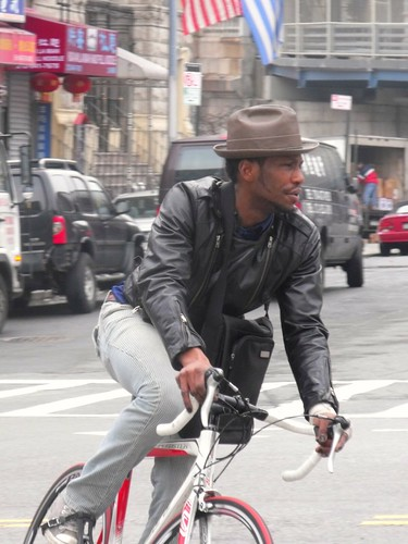 NYC Bicycle Commuter, Manh Br. @ Canal | by bicyclesonly