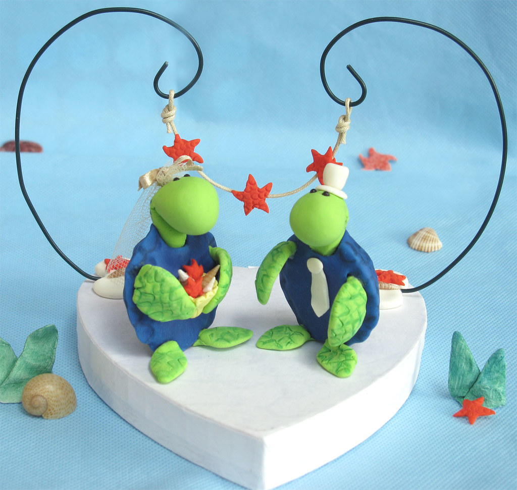 turtle wedding cake toppers custom original sea turtles wedding cake toppers with arc 21320