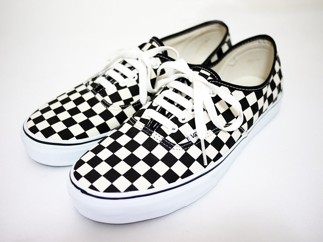 checkered authentic vans