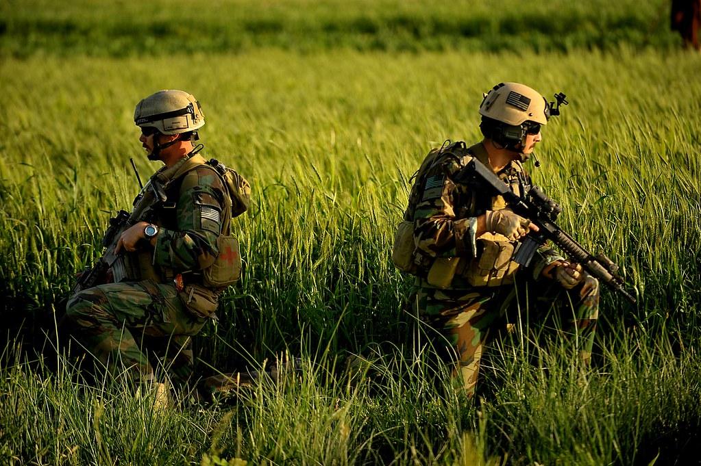 MARSOC Marines in Afghanistan   MARSOC Marines take a knee ...