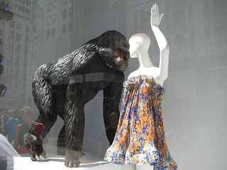 Fashion Gorilla window display at Bergdorf Goodman 7558 | by Brechtbug