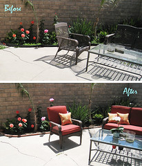 backyard living space+patio+before and after | by ...love Maegan