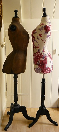A vintage Stockman mannequin with my new wasp waisted mannequin. | by Corset Laced Mannequins
