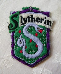 Harry Potter Slytherin Shield Hand Embroidered Felt Ornament | by Jennie Ivins