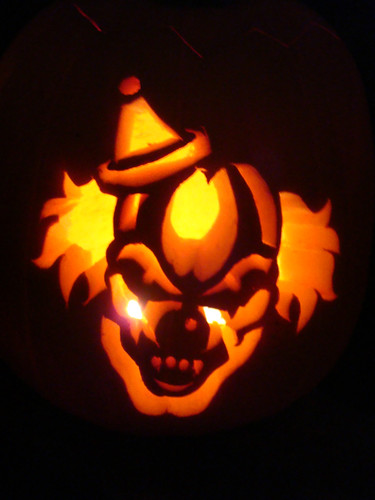 Evil clown erika glover flickr for Evil face pumpkin template