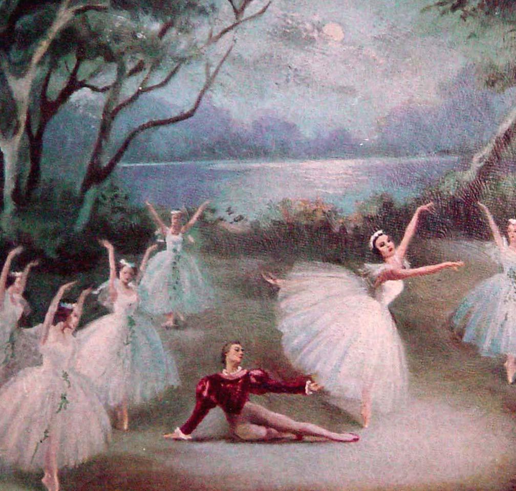 swan lake ballerina print french provincial framed art 196