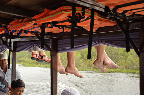 Feet Dangling from Upper Deck | by goingslowly