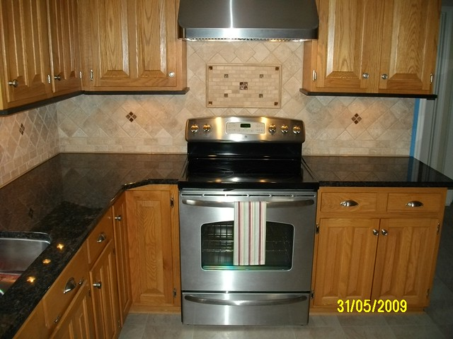 Kitchen Granite With Tile Backsplash Remodeling Want To