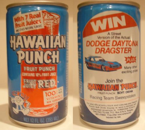 Vintage Hawaiian Punch Aluminum Can Dodge Daytona