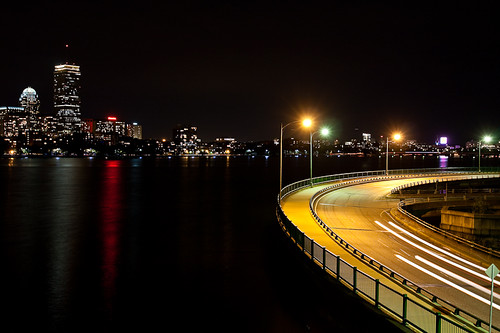 Boston at Night with Road | by Photomatt28