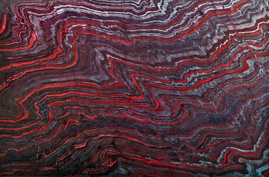 banded iron formation | Johnson Hall, U of WA view large