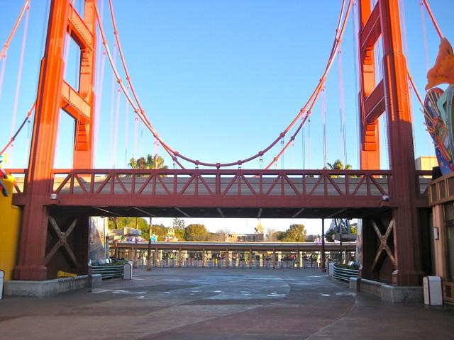 Golden Gate Bridge California Adventure Disneyland Backs