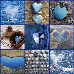 Blue, brown and white    ♥ More Hearts ♥ | by LHDumes