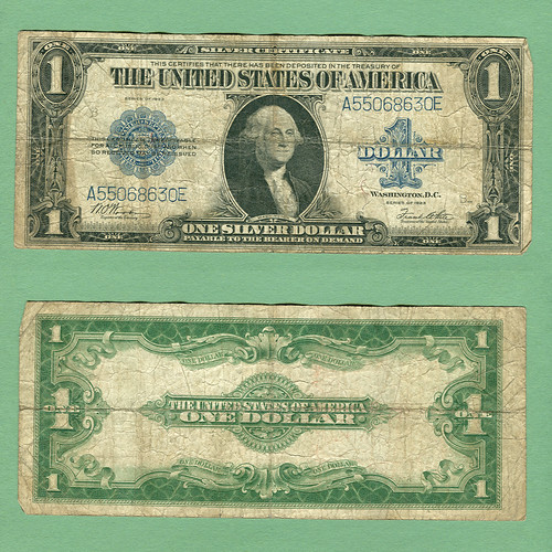 Series 1923 U.S. 1$ Silver Certificate, Friedberg #238, S/N A55068630E | by LostBob Photos
