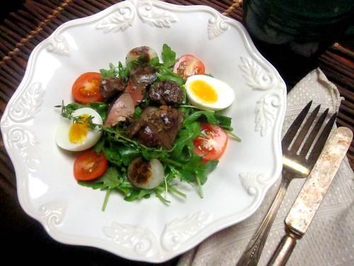 salade de g siers confit salad with confit gizzards flickr. Black Bedroom Furniture Sets. Home Design Ideas