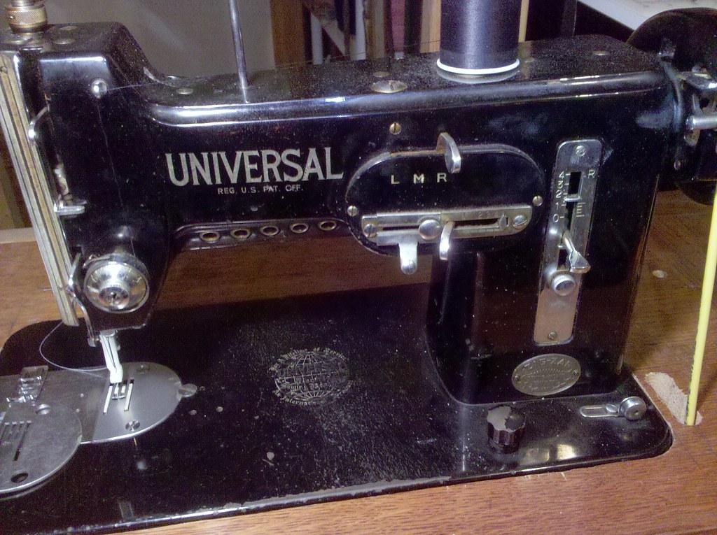 antique universal sewing machine