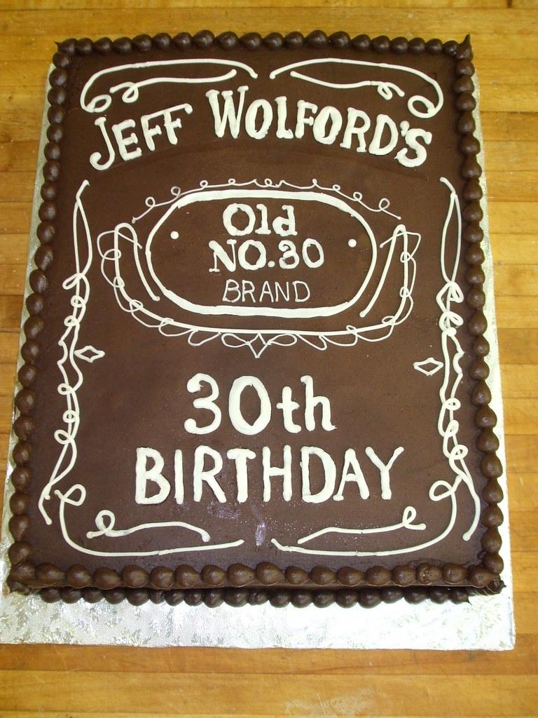 30th Birthday Cake Custom Design On A 1 2 Sheet