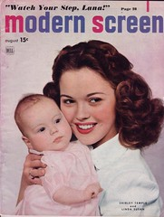 Shirley Temple & baby daughter on the cover of Modern Screen, August 1948 | by Silverbluestar