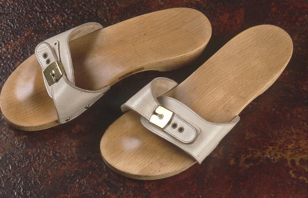 Shoes: Clogs made by Dr Scholls (1969)