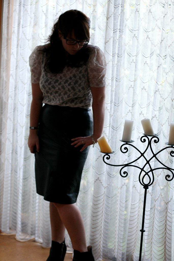Leather Pencil Skirt |...