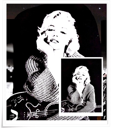 collage mm marilyn monroe m m bw sw black and white flickr. Black Bedroom Furniture Sets. Home Design Ideas