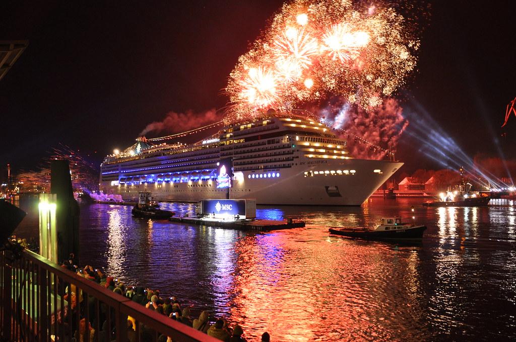 Msc Magnifica Ship Christening Hamburg Germany Msc
