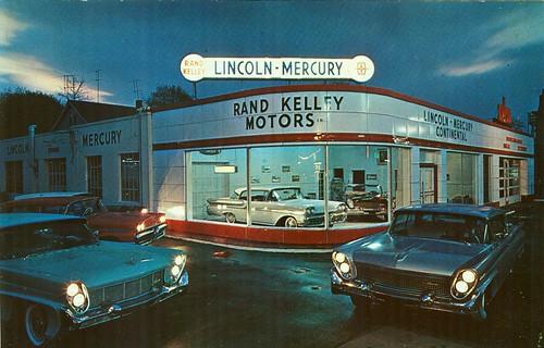 Rand Kelley Motors Lincoln Mercury Stamford Ct 1958