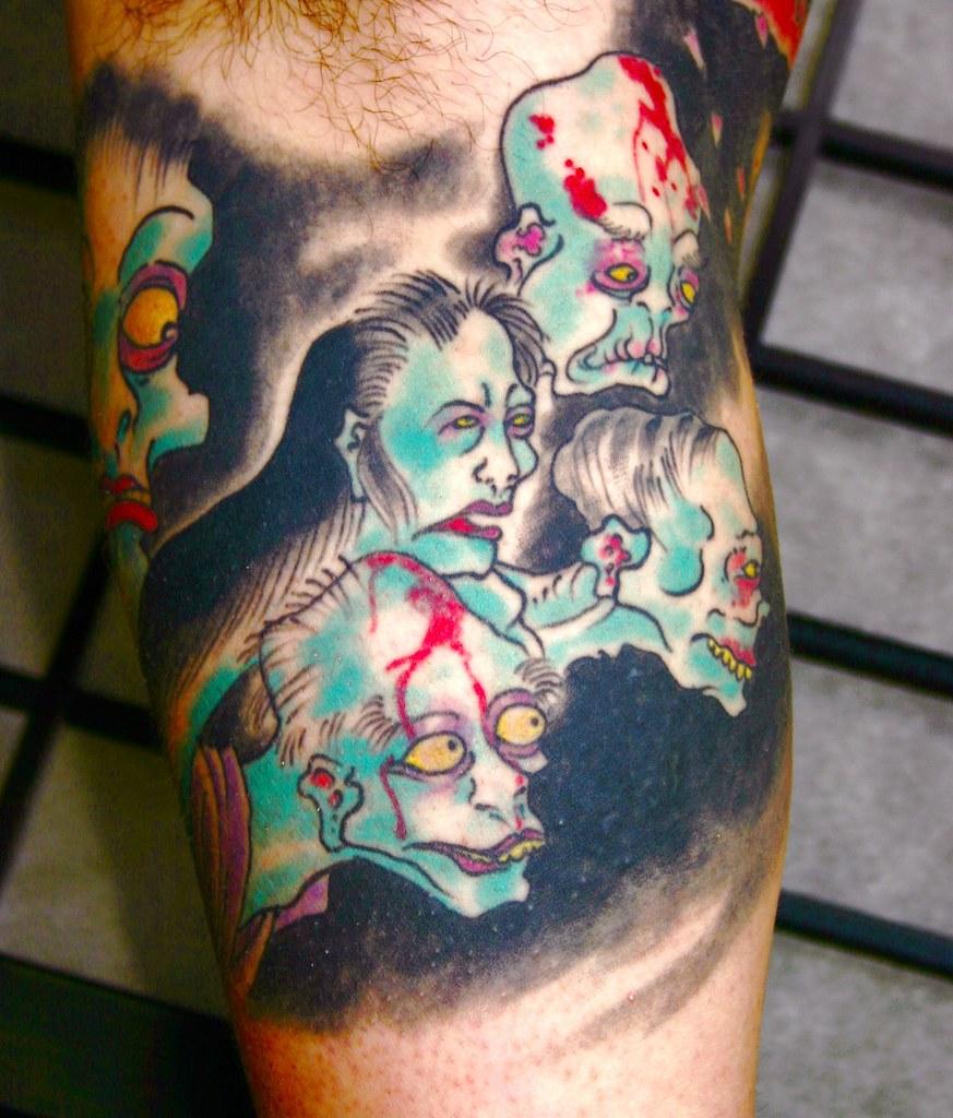Ghosts Jason Schroder Tattoo Japanese Style Tattoo Ghos Flickr