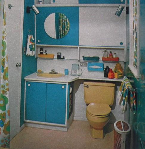 1960s Bathroom Colorful Vintage Interior Design Photo Flickr