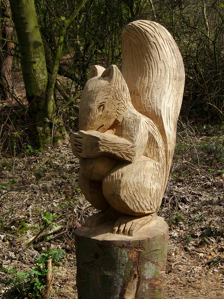 Squirrel carving chainsaw by steve
