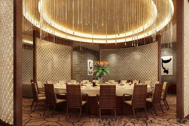 Hotel Chinese Restaurant Vip Room 3d Rendering 3d