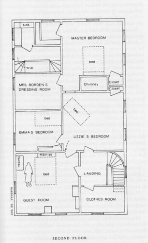 This Is The Second Floor Plan Of The Borden House Guy F
