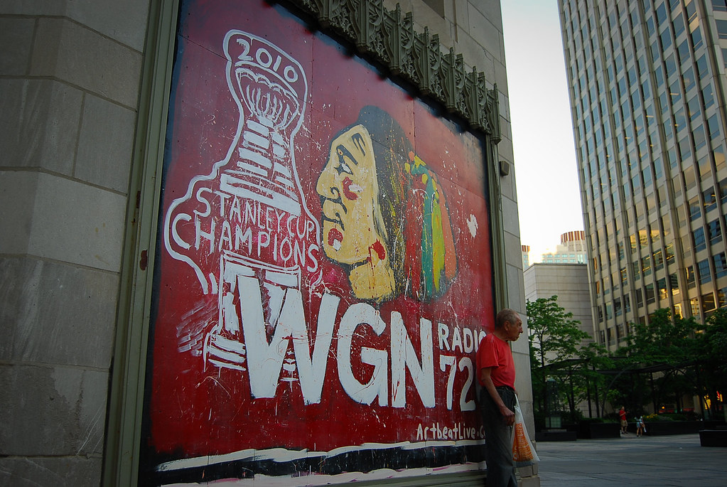 Chicago blackhawks mural chicago blackhawks stanley cup for Blackhawks mural chicago