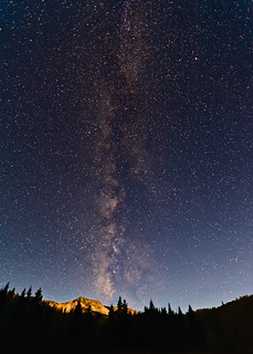 Milky Way Meets Moon on Kebler Pass | by Fort Photo