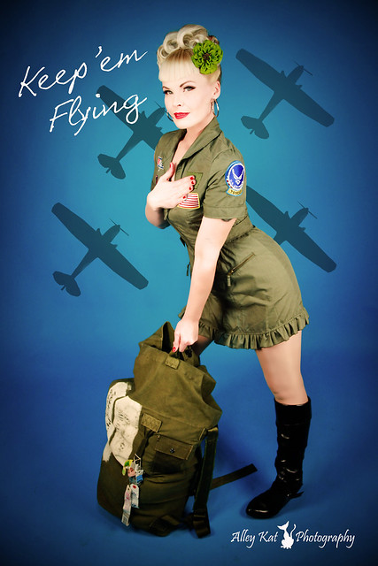 air force military girl pin up alley kat photography