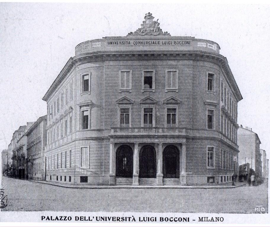 Milano piazza statuto ora largo treves prima sede unive for Sede bocconi milano