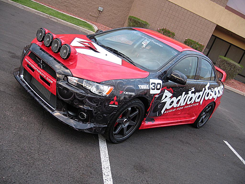 Rockford Fosgate :: Mitsubishi Lancer Evo Rally Car | Flickr